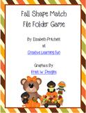 Fall Shape Match File Folder Game