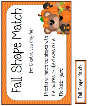 Fall Shape Match File Folder Game