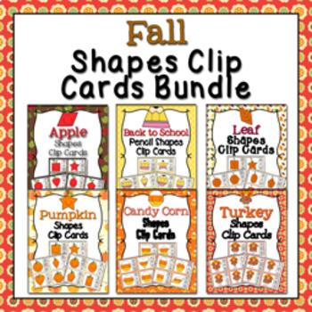 Fall Shapes Clip Cards Bundle