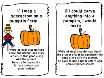 Fall Writing Shared Journal Prompt