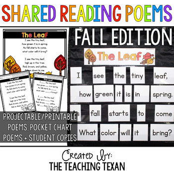Fall Shared Reading Poems and Printables