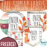 Fall Shiplap Editable Labels for the Classroom | Day 1 Freebie