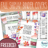 Fall Shiplap Editable Teacher Binder Covers and Spines | D