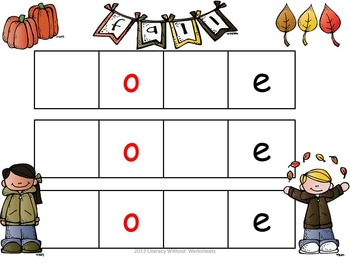 Fall Short and Long Vowel Word Sorts