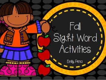 Fall Sight Word Activities