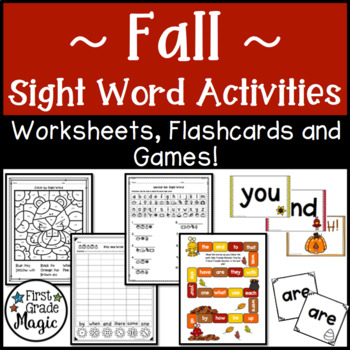 Fall Sight Word Activities