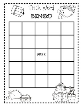 Fall Sight Word Bingo