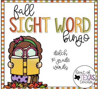 Fall Sight Word Bingo {Dolch 1st Grade}