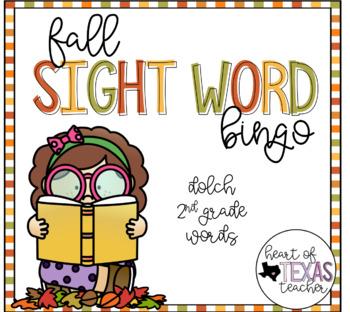 Fall Sight Word Bingo {Dolch 2nd Grade}