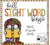 Fall Sight Word Bingo {Dolch 3rd Grade}
