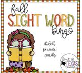 Fall Sight Word Bingo {Dolch Primer}
