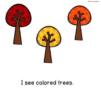 Fall Sight Words Emergent Reader