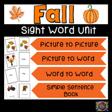 Fall Sight Words Emergent Reader