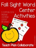 Fall Sight Word Centers