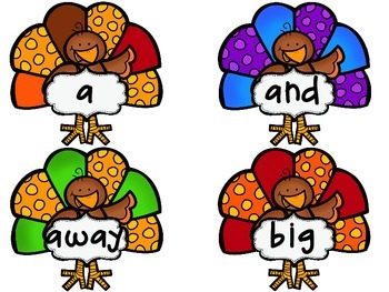 Sight Word Flash Cards: Fall Bundle Set
