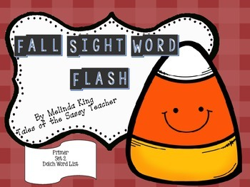 Sight Word Flash Cards: Fall Set 2