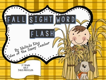 Sight Word Flash Cards: Fall Set 3