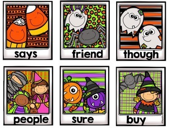 Autumn Fall Sight Word Game