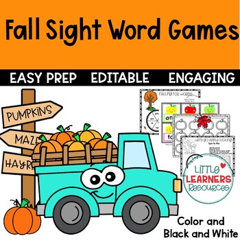 Fall Sight Word Games