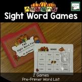 Pumpkin Sight Word Games- Fall, Autumn