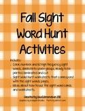 Fall Sight Word Hunt