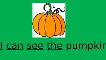 Fall Sight Word PPT 10 Slides