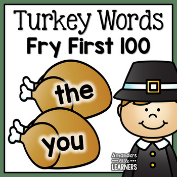 Fall Sight Word Practice - Turkey Cards