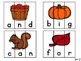 Fall Sight Word Puzzles~ Dolch Pre-primer