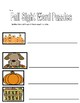 Fall Sight Word Puzzles and Worksheet