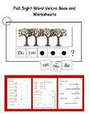 Fall Sight Word Velcro Book (Adapted Book)
