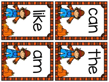 Fall Sight Word Write-Around-the-Room!