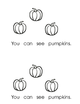 Fall Sight Words Book (You can see _____)