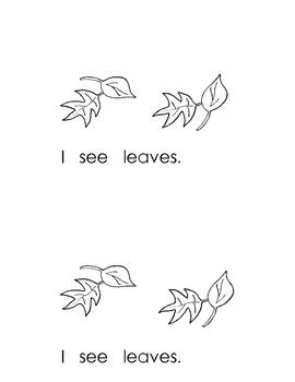 Fall Sight Words Book for Kindergarten