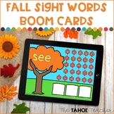 Fall Sight Words Boom Cards | Digital Reading Centers