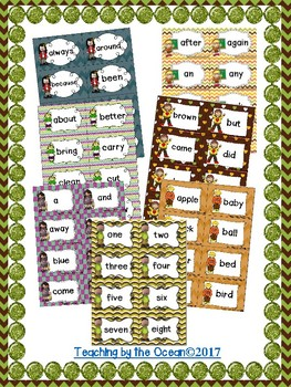 Sight Words Cards BUNDLE - Fall Themed