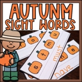Fall Sight Words Center Primer Thanksgiving Activity for K