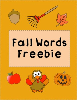 Fall Sight Words Freebie!