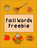 Fall Sight Words Freebie!