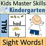 Fall Sight Words - Hands-On Activities (100 Sight Words)