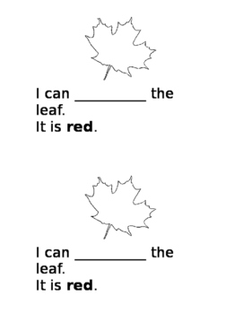 Fall Sight Words Independent Reader