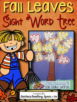 Fall Sight Word Trees with EDITABLE Word Lists --- Fall Le