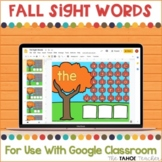 Fall Sight Words for Use With Google Classroom™