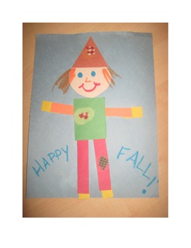 "Fall Silly ""Shaped"" Scarecrow"