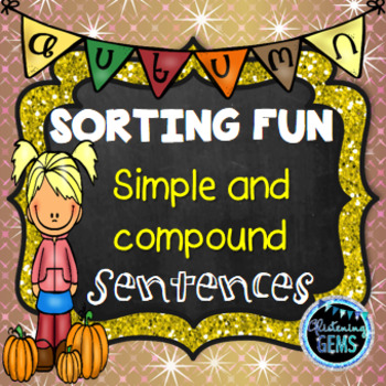 Fall Simple and Compound Sentences Sort