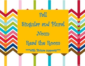Singular and Plural Nouns Read the Room- Fall Themed