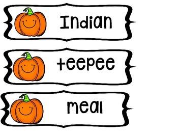 Fall Singular and Plural Nouns