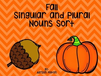 Fall Singular and Plural Nouns