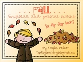 Fall Singular and Plural Nouns Flip Flap Book