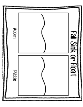 Fall Sink or Float Graphic Organizer