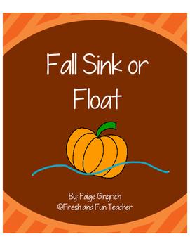 Fall Sink or Float Graphic Organizer [Preschool & Kindergarten]